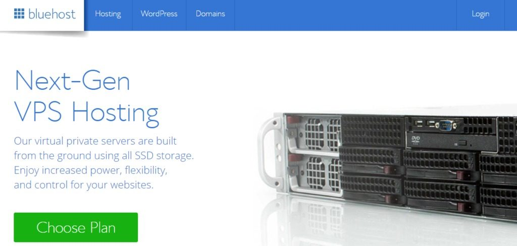 Bluehost Next Gen hosting: best VPS hosting